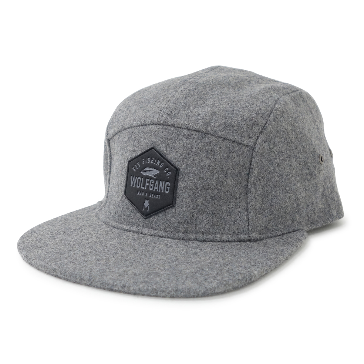 FlyCo 5-PANEL WOOL HAT ( Gray )